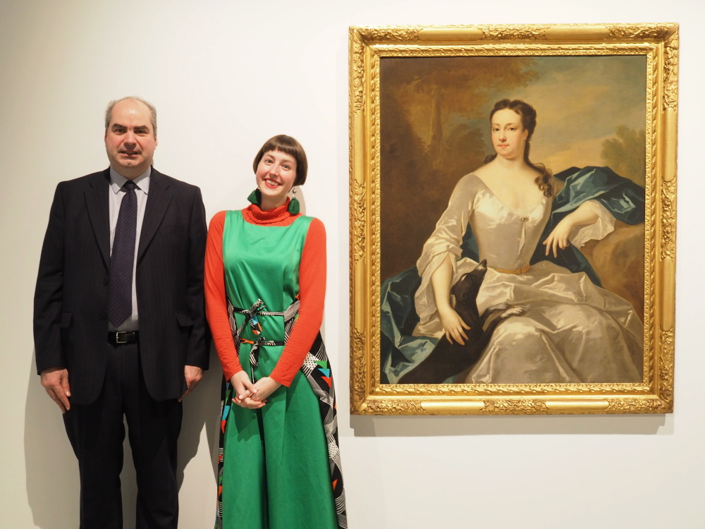Rupert Rokeby-Johnson and Riah King-Wall, researcher and writer for The Rokeby Portraits