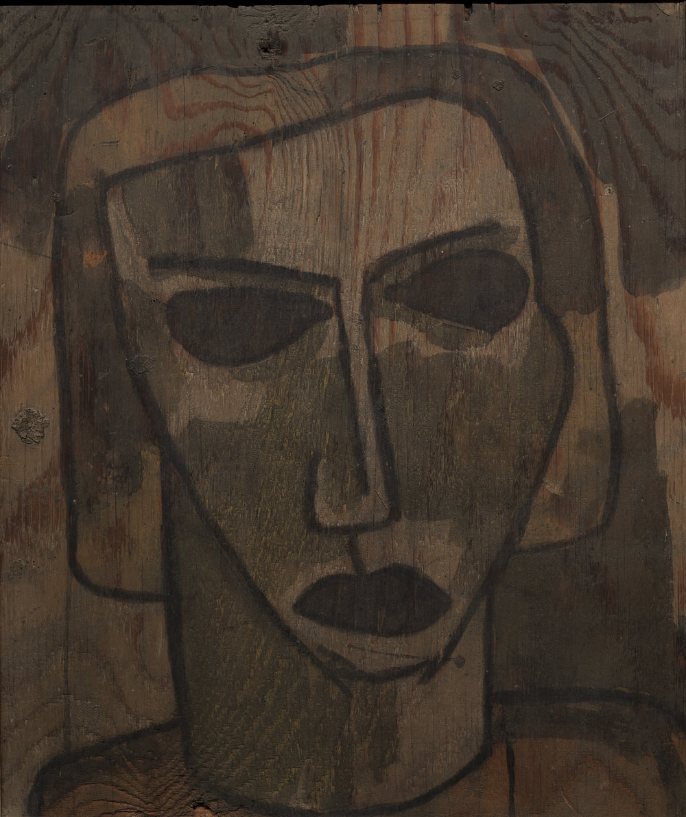 Elespie Prior, 1938, Colin McCahon, ink and watercolour on plywood Private collection, Wellington
