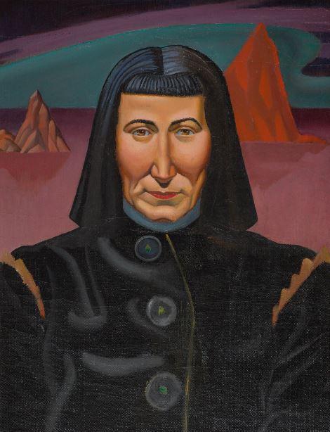 Rita Angus, 1937, Leo Bensemann, oil on canvas Collection of the Museum of New Zealand Te Papa Tongarewa