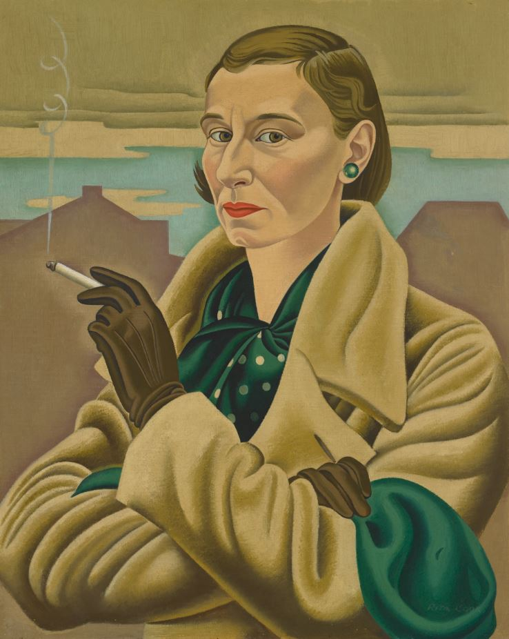 Self-Portrait, 1936-37, Rita Angus, oil on canvas, Collection of the Dunedin Public Art Gallery