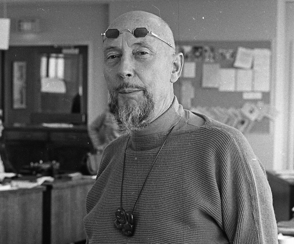 Len Lye at University of California, Berkeley, 1966