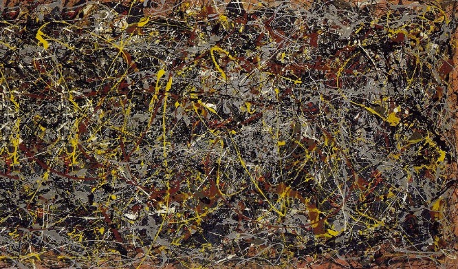 ' No. 5, 1948 ' by Jackson Pollock and valued ........wait for it ....... at a mere £100 million + ..... Yes £100 MILLION
