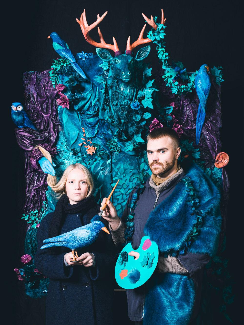 Kehys -installaatio Koe Karakallio Creative -tapahtumassa. Kuvaustiimi: Tuuli Rouhiainen, Emilia Erfving, Mohan Anandan ja Seppo Verho.