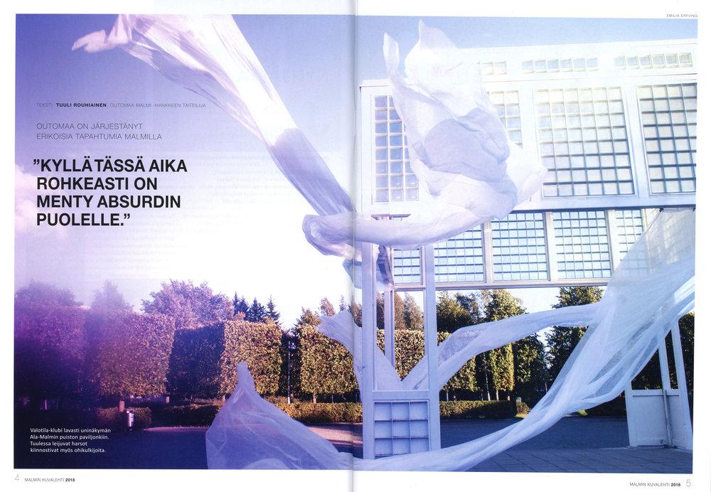 Joulukuu 2018: Outomaa-projektista on 6 sivun juttu uusimmassa Malmin kuvalehdessä.