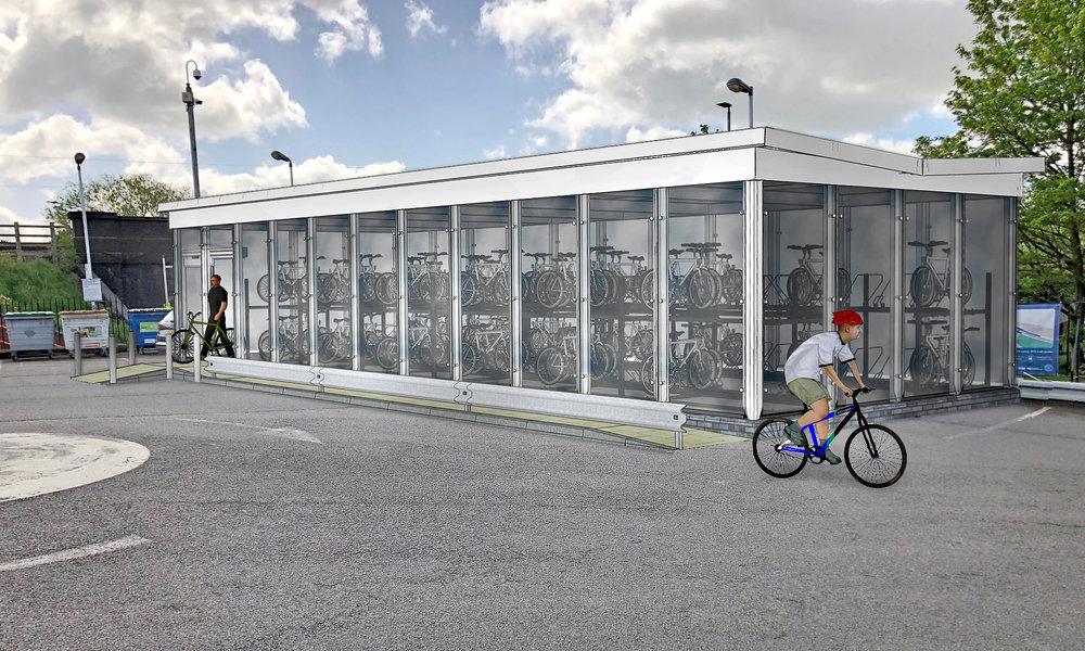 Cycle hub building