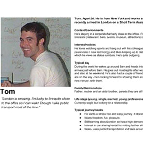 One of our personas: Tom