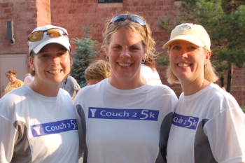 The original Couch to 5K team. Suzanne, Donna, and Lisa inspired and entertained me during every Tuesday adventure.  Thanks, Girls!