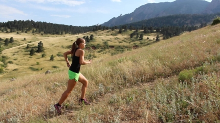 Thanks to Youtube for this example of uphill running form.  This runner will make it to the top!