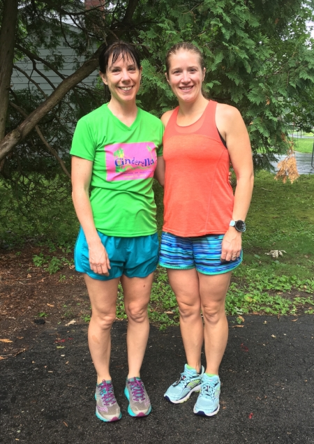 Colleen  and I in NY after a drenching run.  It was a fabulous rainy run with Colleen during her visit from CA.