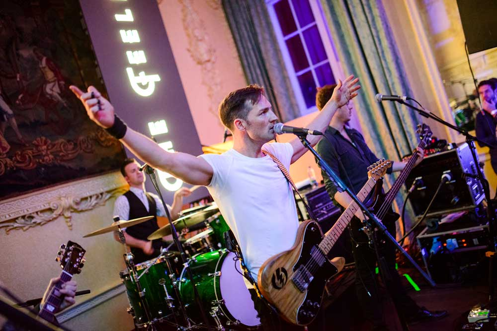 UK Brit nominated THE FEELING perform at EU Registrar Night in Luttrellstown Castle in Dublin. Pix Pawel Nowak.