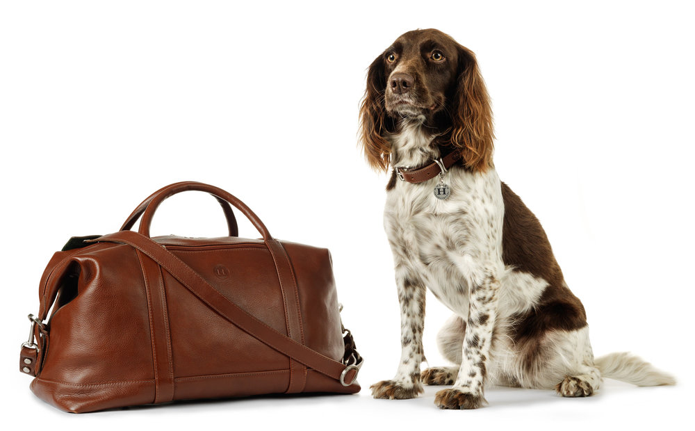 Holden Weekend Travel Bag €945 and Holden Dog Collar & Lead €150 Holden Leathergoods ship worldwide and the collection can be viewed and purchased on www.holdenleathergoods.com