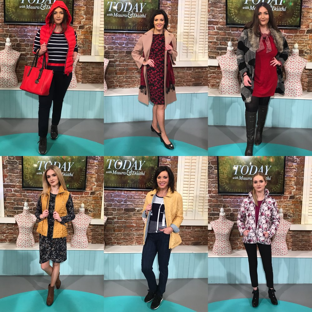 All six head to toe looks as featured on RTE Today this week. Shop online on paco.ie or in any of their stores nationwide. (Prices correct at time of publishing)