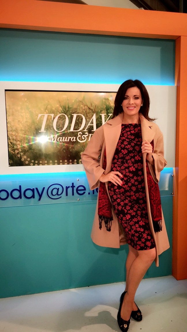 Double Breasted Coat : €49.95.  Other Colours: Red. Sizes: 10-18   PACO Daisy Print Dress.  Price: €29.95. Sizes 10-20   Court Shoes: €19.95. Sizes: 36-41