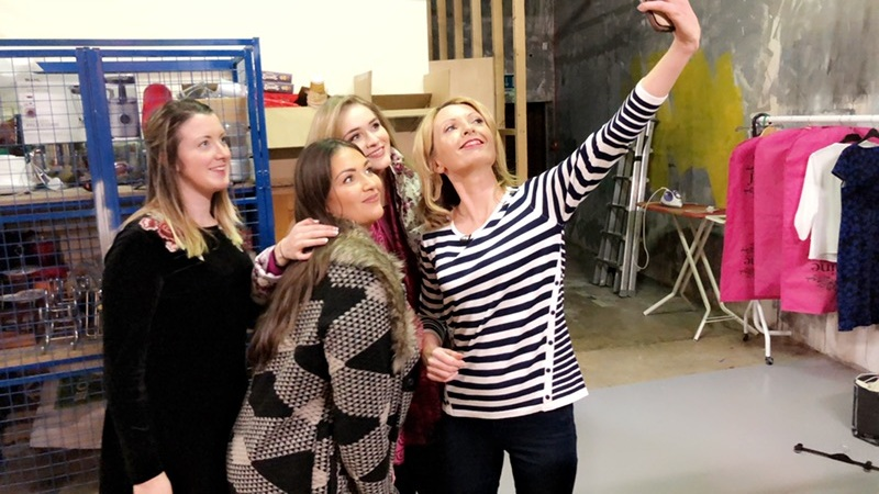 Backstage selfie . . . with Rose (Marketing Manager Paco and models Fiona and Christine. Result below !