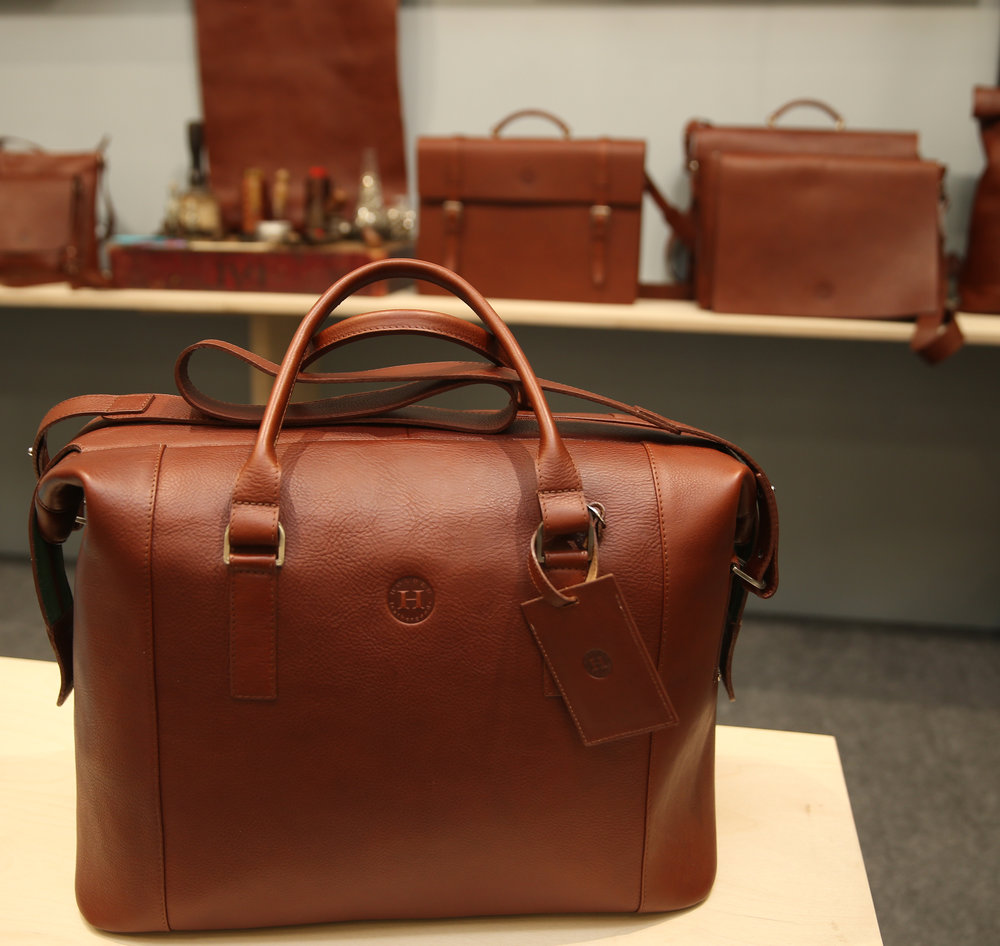 The new award winning Holden Luxury Travel Bag (priced at €975). www.holdenleathergoods.com. Photo credit: Leon Farrell, Photocall Ireland