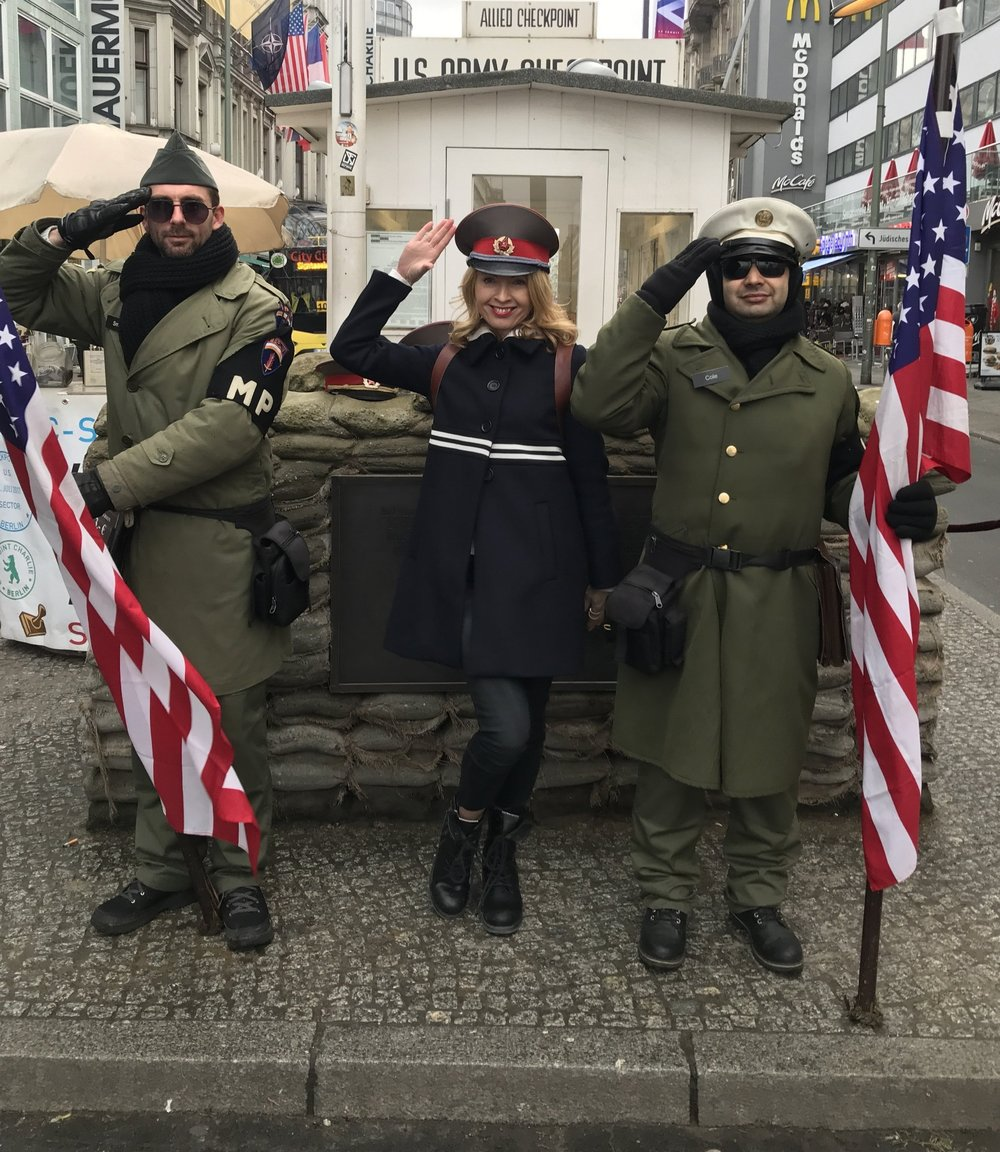 Yours truly at Checkpoint Charlie !