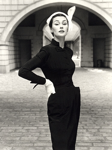 A timeless classic and a wardrobe basic- the Little Black Dress (Photo Credit: John French. Circa 1950's)
