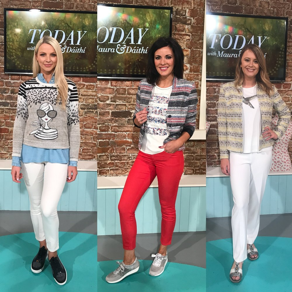 Ara shoes - Put a Spring into your Step!On RTE Today I showed 6 fashionable and functional trainers and shoes from Ara Shoes all styled with 6 beautiful new season looks from Hannons of Castleisland.