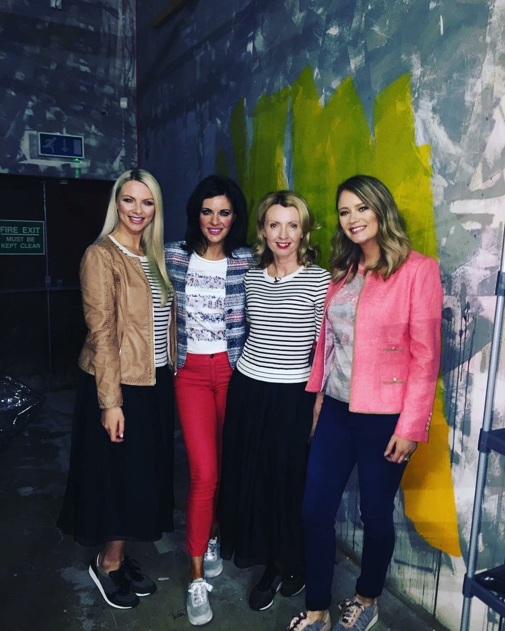 Backstage with models Maeve, Jen and Aisling at RTE Today. All footwear by Ara Shoes and all clothes from Hannons of Castleisland.