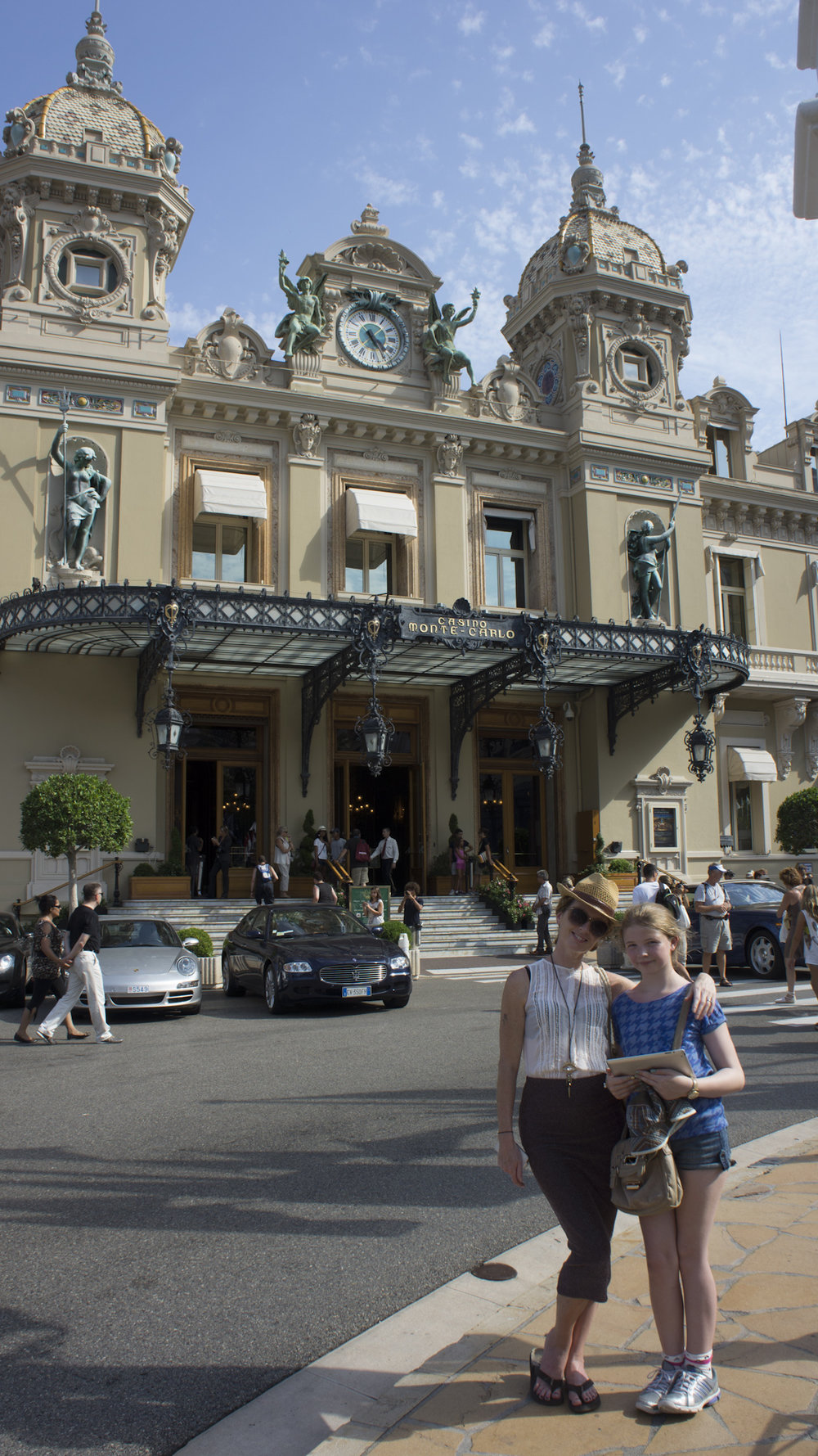 Zoe and I outside the Hotel Monte Carlo a few years ago :}