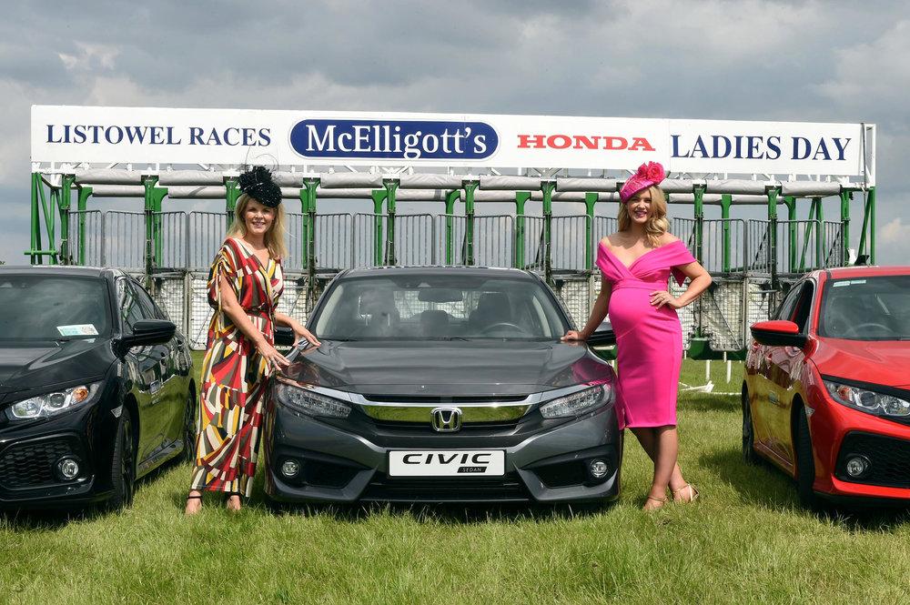 Marietta Doran and Aoibhin Garrihy, judges of the McElligotts Honda Ladies Day 2018 (photo credit: MacMonagle)