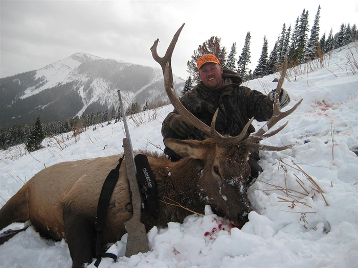 This elk was taken at 610 yards