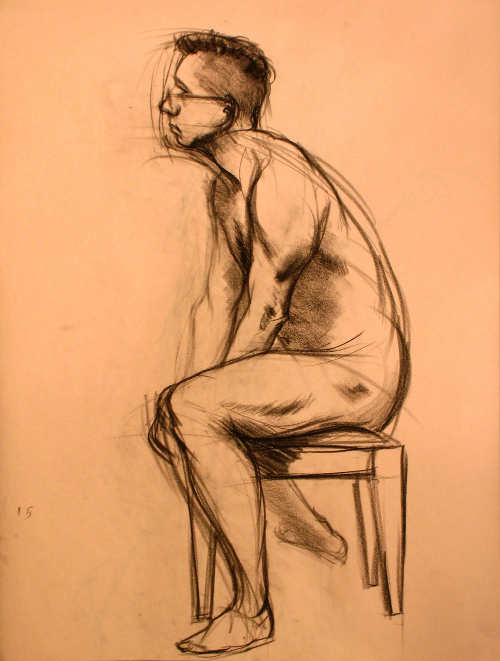 Male Sitting Nude