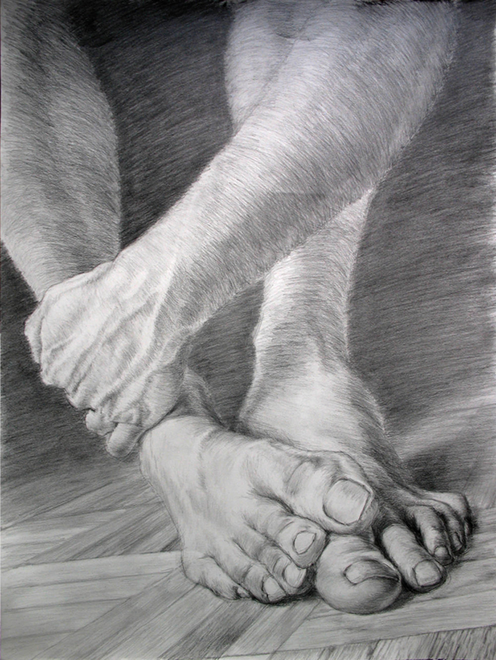 Feet in Pencil