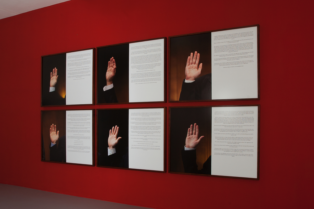 "Danilo Correale ""The Future in Their Hands (the visible hand)"" 2011/2012 - c-print framed - six parts work - 129x99 cm each, C.sy Raucci/Santamaria Gallery Naples - Photo E. Velo"