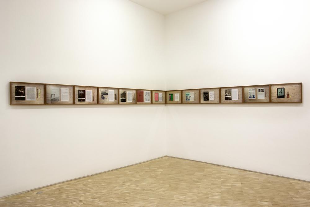 "Danilo Correale exhibition view of ""Mr. Bojangles.......may also enjoy"" 2014/15 - c-prints - mahogany frames 33,5x49 cm each - 13 parts ( Season Part I)at Raucci/Santamaria Gallery, Naples - 2015 - C.sy Galleria Raucci/Santamaria NaplesPhoto : Enzo Velo"