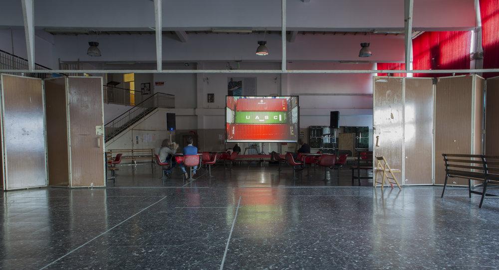 Installation view, Culm Sala Chiamata, Genoa, 2017, Ph. Moira Ricci