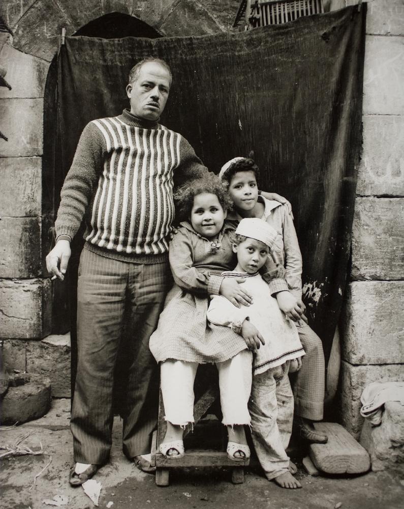 Street vendor and his children Bab el Futuh, Cairo 1982