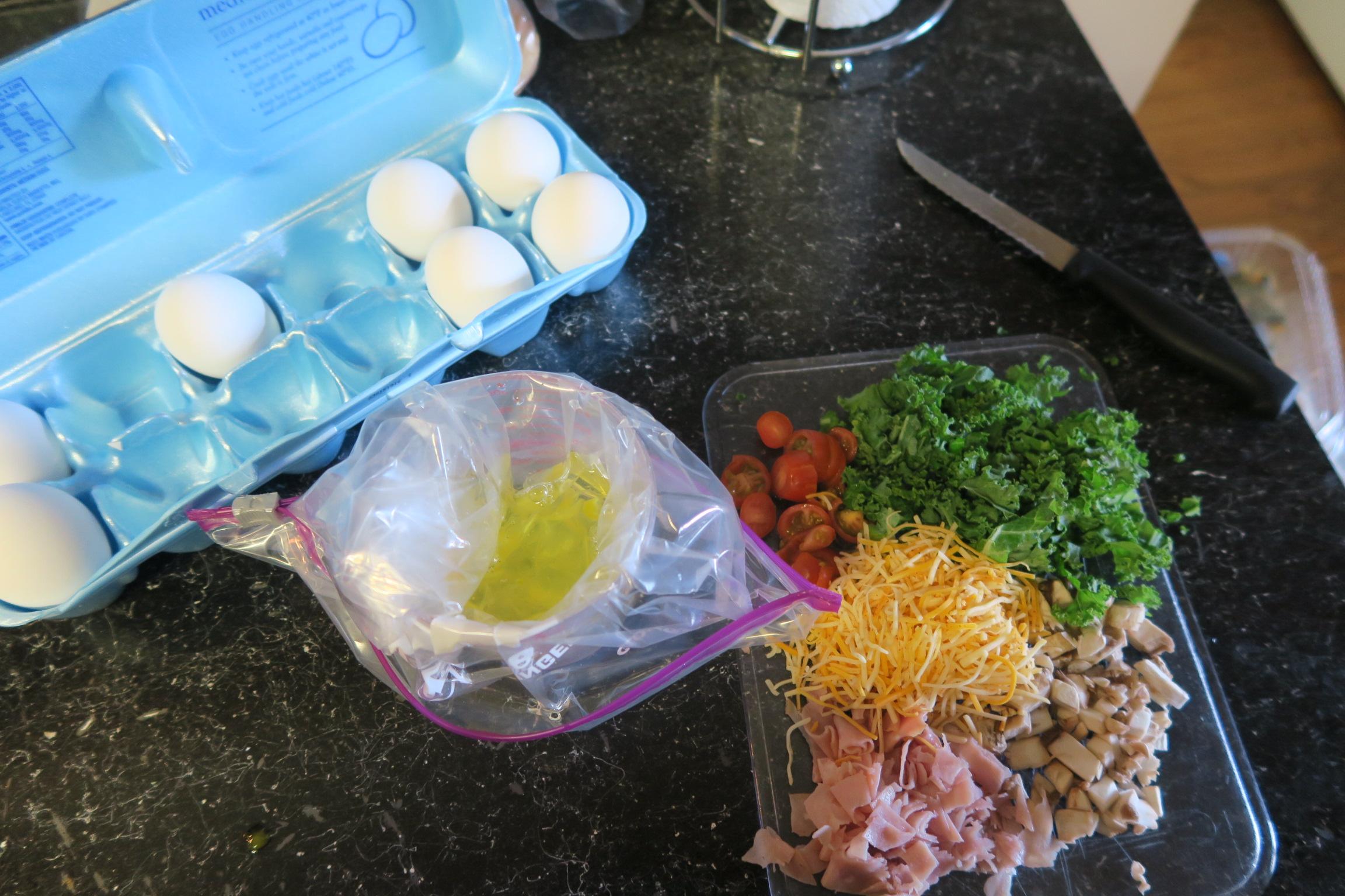 perfect omelette, ziplock bag omelette, omelette, easy omelette, egg white omelette
