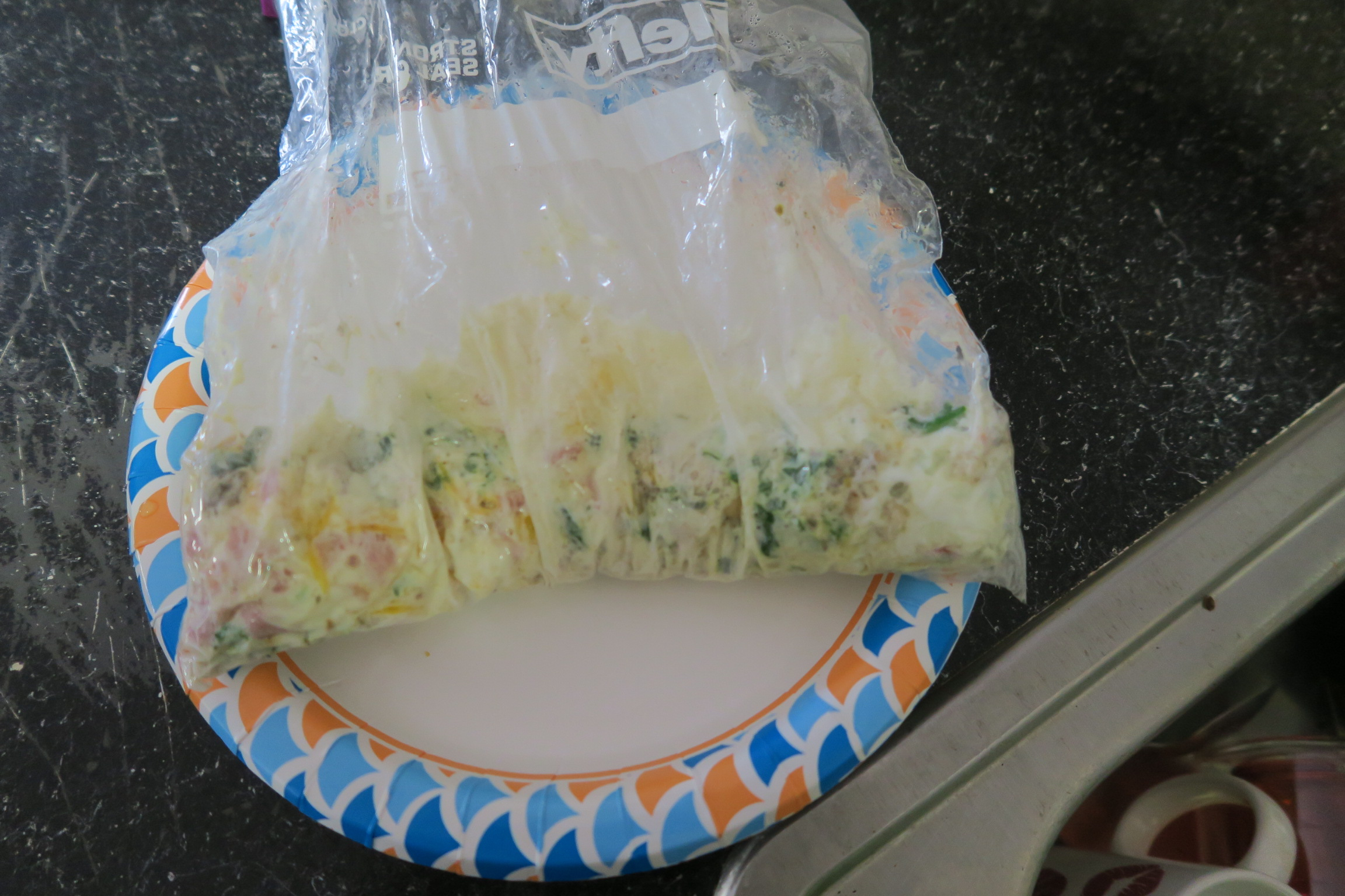 ziplock bag omelette, omelette, easy omelette, egg white omelette