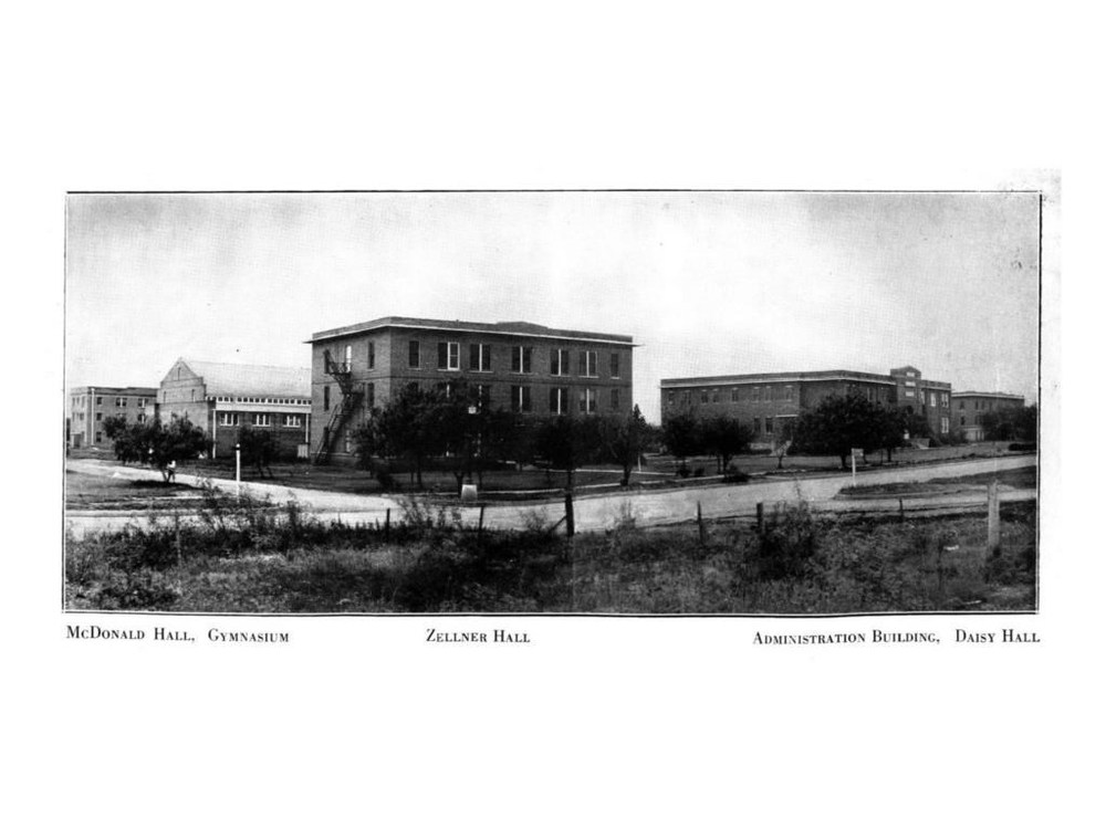 Historical photo - this was the original campus of Childers Classical Institute, which became Abilene Christian University.