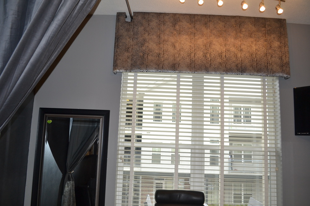Window treatments were made to give a clients that feeling of custom design.