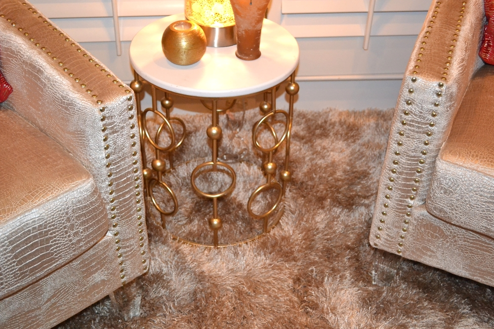 Plush accessories and decor by Atlanta Interior Designer, Cheryl Adams