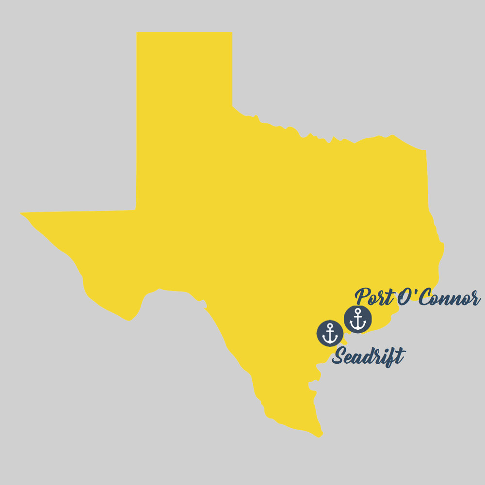 Map Of Texas Coastal Towns.Two Fishy Texas Coastal Towns See Simple Love