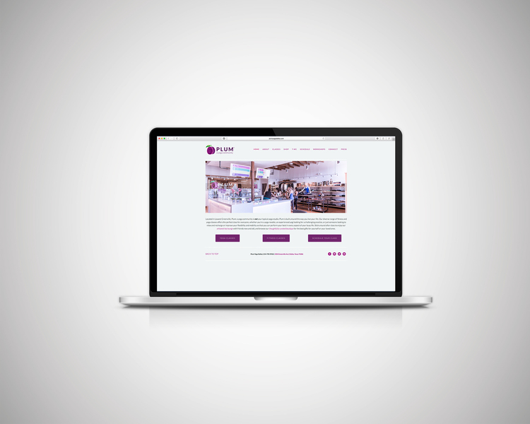 plum yoga web design