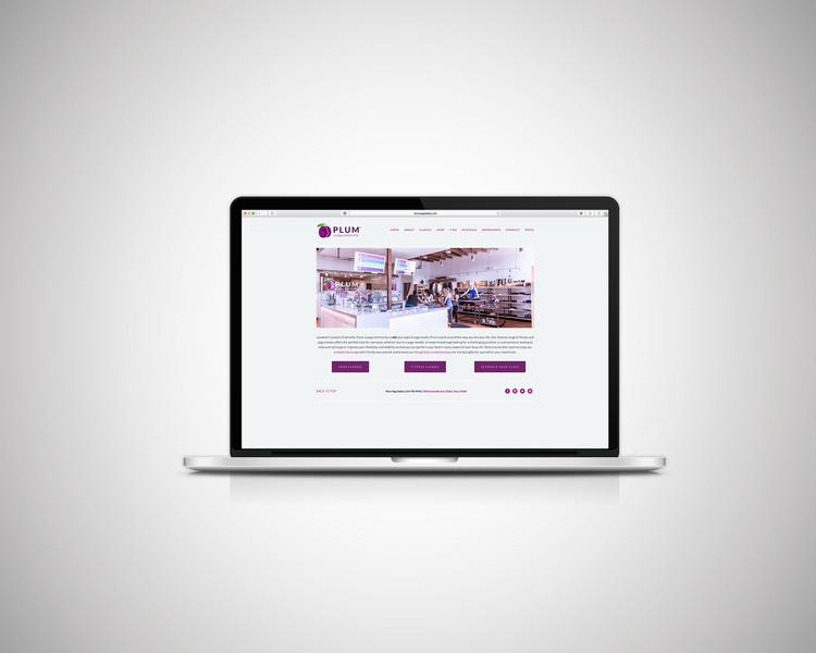 plum yoga web design