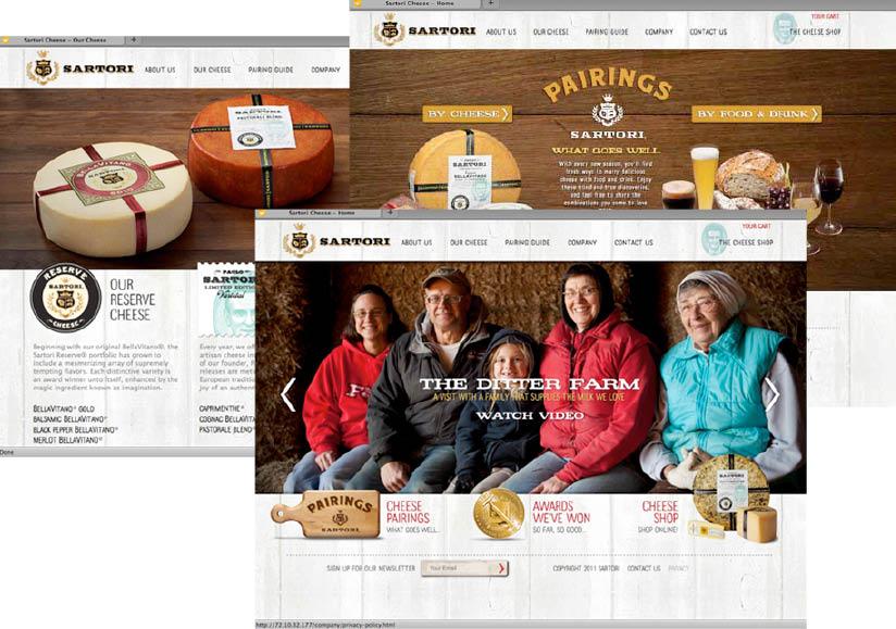 Sartori web design