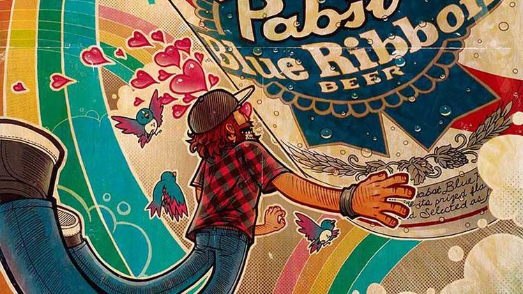 Pabst Blue Ribbon Art