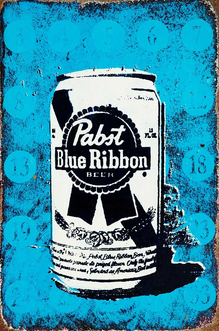Pabst Blue Ribbon drawing