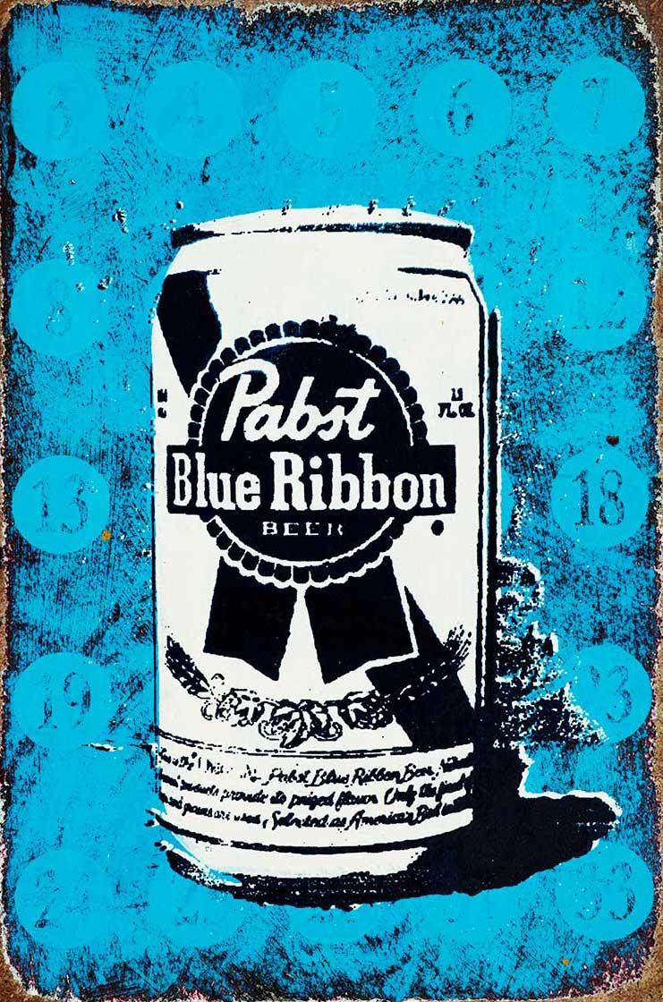 Pabst Blue Ribbon drawing