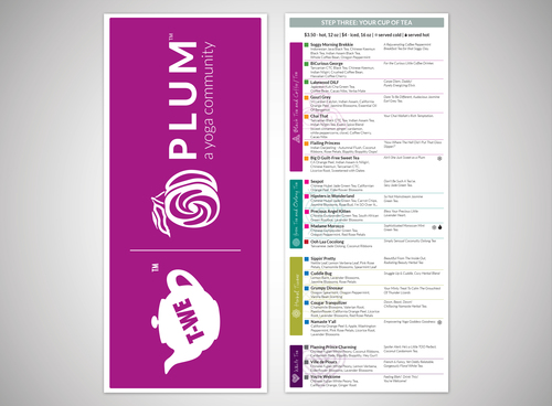 Plum and Greenlight menu