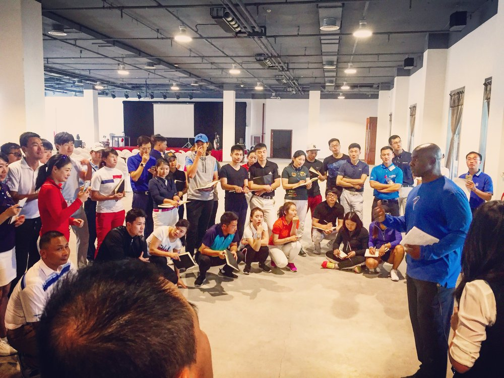 Coach Milo teaching for TPI in Beijing, China.