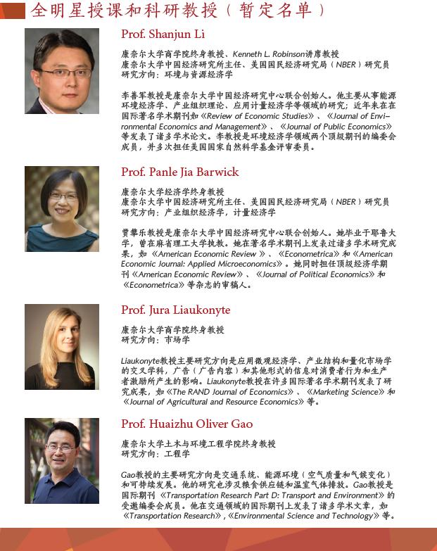 Speakers list