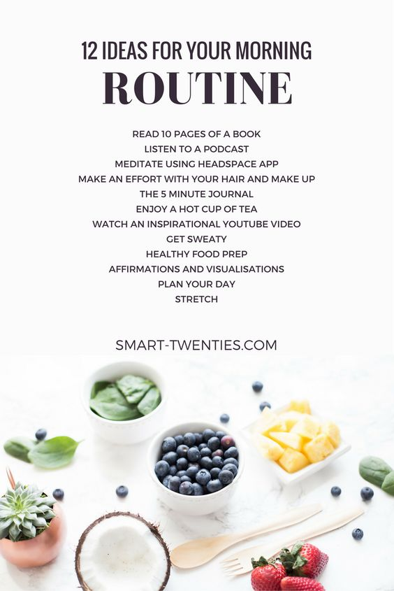 12 Ideas for your Morning Routine