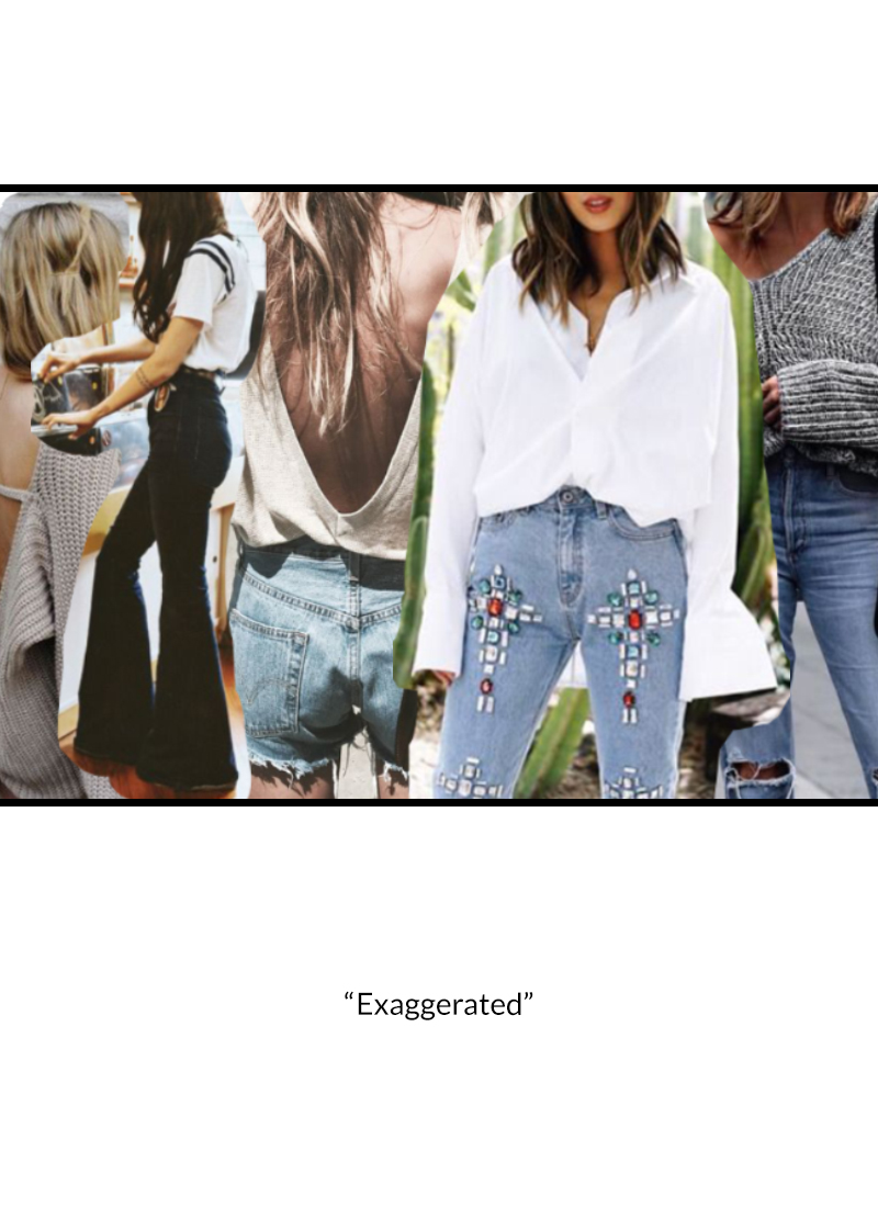 <h4><center>Whether it be a bell bottom or a bell sleeved shirt, the dramatization of simple silhouettes have shown to be a key trend in 2017. It is the exaggeration that adds sexiness to an ensemble.