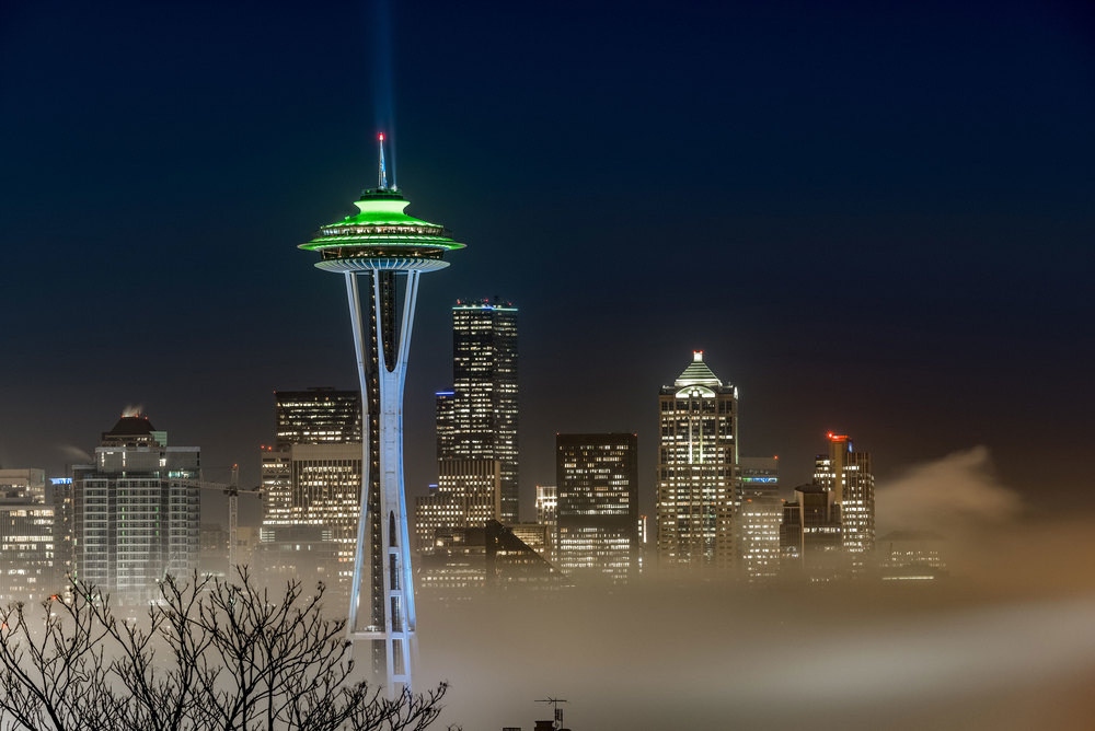 Seattle Foggy Night